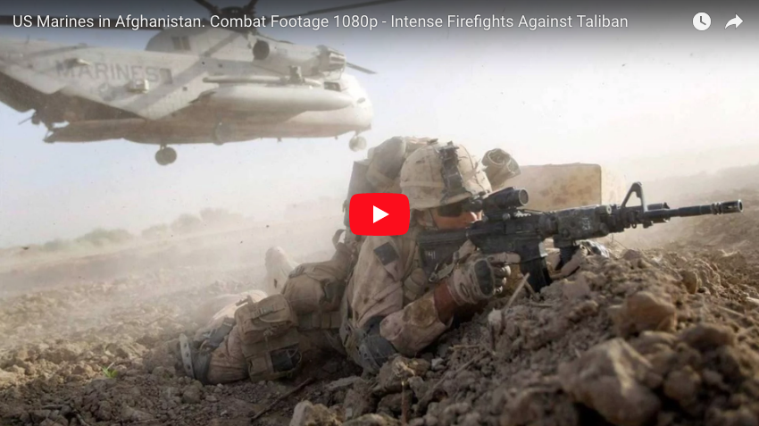 US Marines in Afghanistan  Combat Footage Firefights Against Taliban
